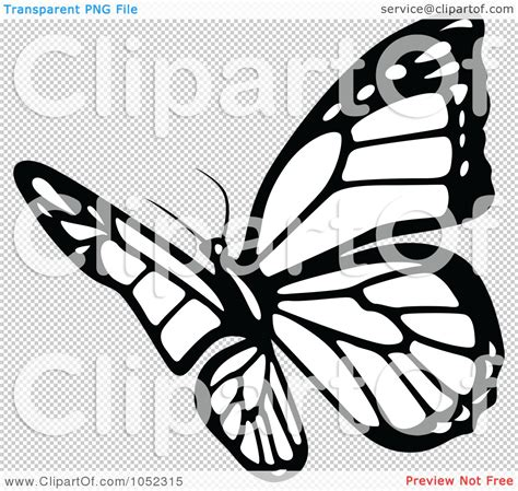 Butterflies Clip Art Black and White
