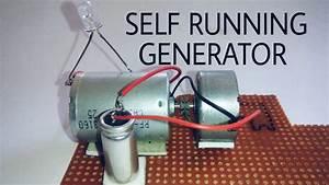 Free Energy Self Running Generator Using Dc Motor And