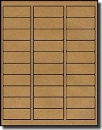 averya   labels  sheet brown kraft standard