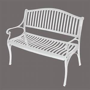 Gartenbank Weiß Metall : alubank gartenbank napoli 2 sitzer aus wetterfestem aluminium aluguss weiss ebay ~ Watch28wear.com Haus und Dekorationen