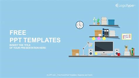 computer  desk powerpoint templates