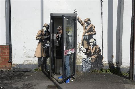 Banksy art work appears on side of Cheltenham house near ...