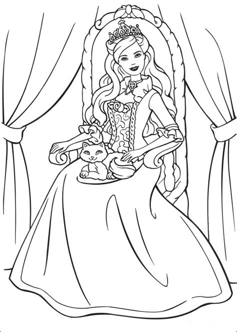 barbie princezna  svadlenka omalovanky pro deti   vytisknuti zdarma omalovanky pro