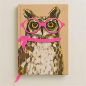 Neon Owl Bound Journal