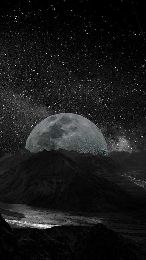 wallpaper moon planet space milky   space