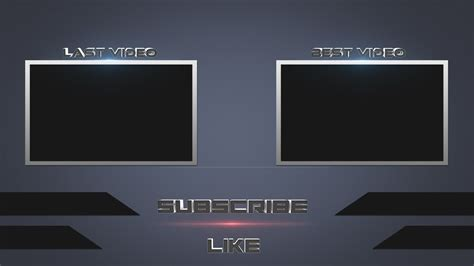 Outro Template Speed Photoshop Free Outro Template