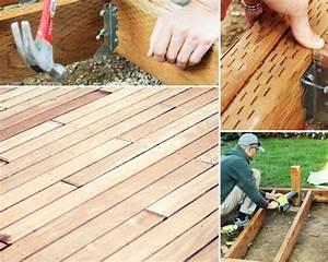 Faire Un Plancher Bois : faire une terrasse en bois tuto d taill pour fabriquer ~ Dailycaller-alerts.com Idées de Décoration