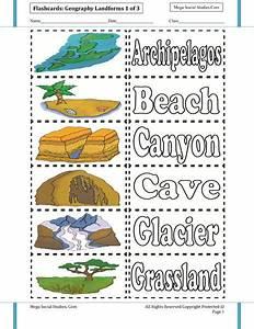 Landforms Printable Flashcards 1 of 3 | Landform ...