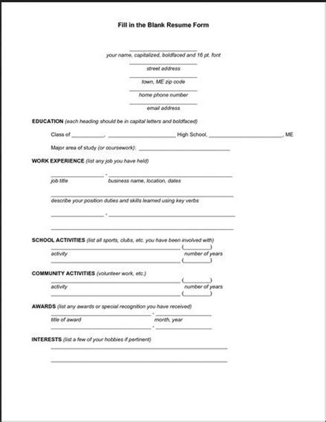 Form Of Resume by 25 Best Resume Form Ideas On Simple Resume Exles Professional Letterhead And