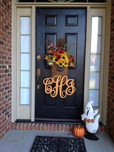pin  sammie company  etsy board   bright  fun wooden monogram door