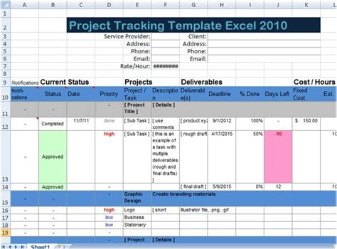 excel spreadsheet templates  tracking xls