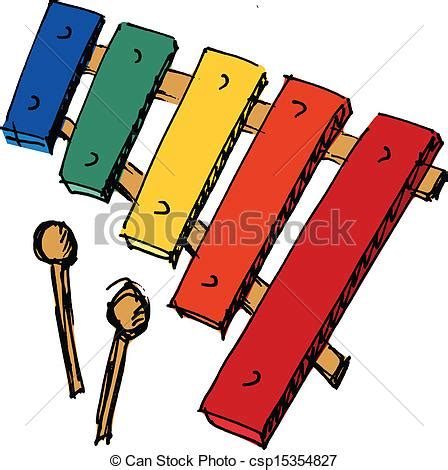 hand drawn sketch cartoon illustration  xylophone