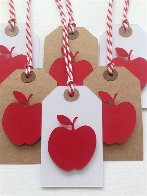 red apple party favor tagsgift tags  images easy