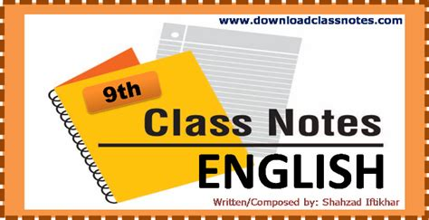 classnotes english notes class  fbise