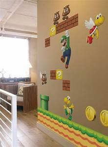 nice decors blog archive super mario themed wall With nice wall decals canada kids