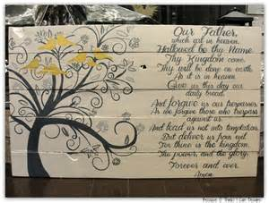 wood anniversary gift ideas the lord s prayer family tree custom painted wood sign