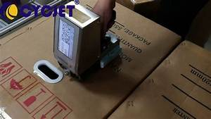 Cycjet Alt382 Carton Box Hand Jet Printer  How To Manual
