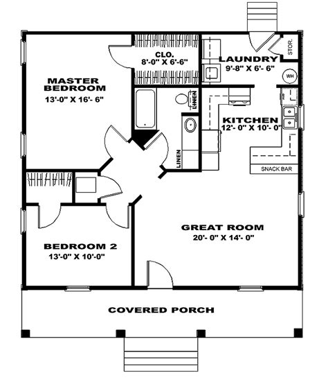 bedroom house plans  bedroom cottage small