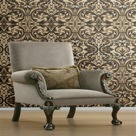 brl guinevere black baroque marquetry wallpaper