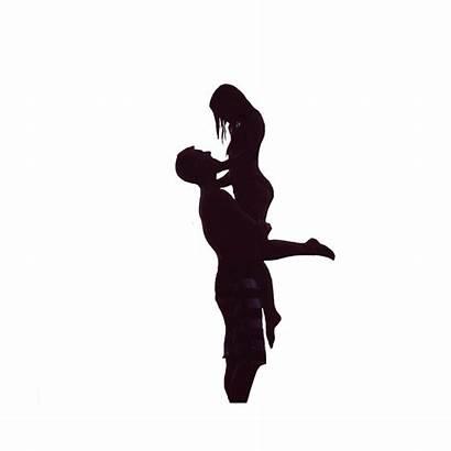Silhouette Romantic Couple Romance Picsart Sticker Save