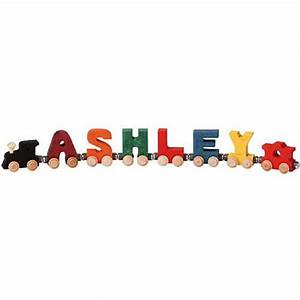 Maple landmark bright wooden letters name train oompa toys for Maple landmark train letters