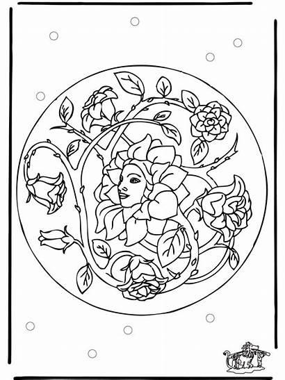 Mandala Mandalas Coloring Pages Spring Flower Printable