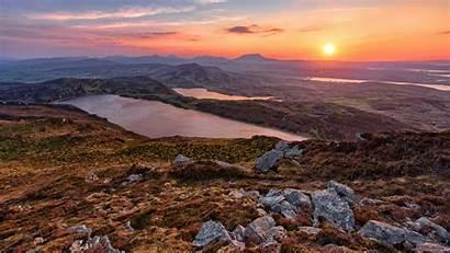 Ireland Wallpapers Mountain Sunrise Lough Donegal Salt