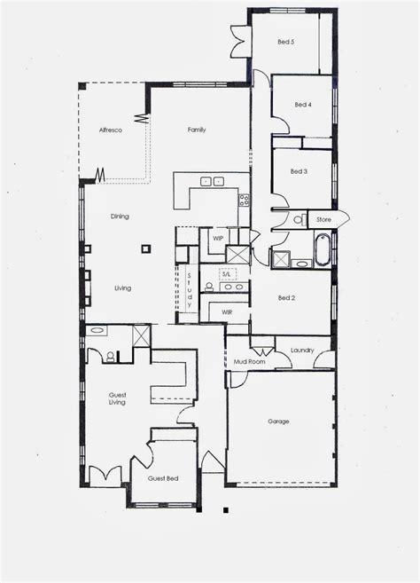 denah rumah  kamar  lantai  contoh gambar rumah