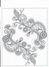Crochet Mandala Hindu Coloring Motif Irish Tattoos sketch template