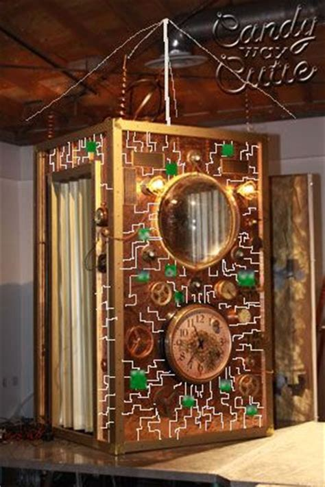 design idea  time machine circuit board reflective