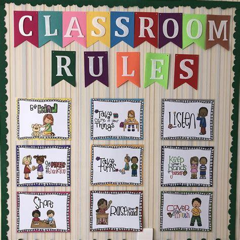 pcs english poster classroom rules  big cards