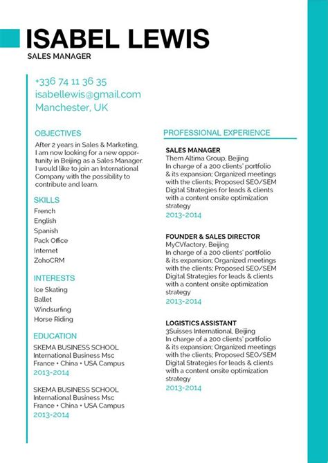 top rated resume templates simple resume layout open minded resume 183 mycvfactory 25305 | Resume Template 219 English.original