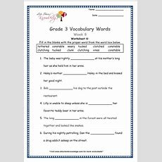 Grade 3 Vocabulary Worksheets Week 8  Lets Share Knowledge