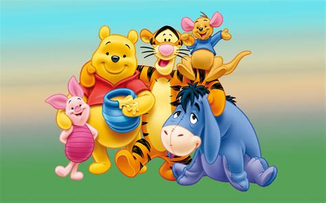 Winnie The Pooh Characters Image Desktop Hd Wallpaper For