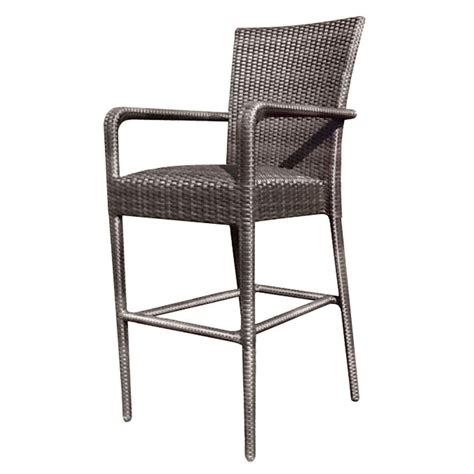 Cushioned Bar Stools With Arms by Whitecraft By Woodard Wicker 24 Quot Padded Seat Counter Stool