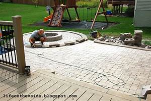 Diy Stone Patio Ideas How To Install Pavers Over Dirt