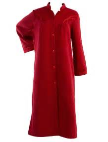Robes De Chambre Femme Hiver by Ladies Polar Fleece Button Up Dressing Gown Satin Style