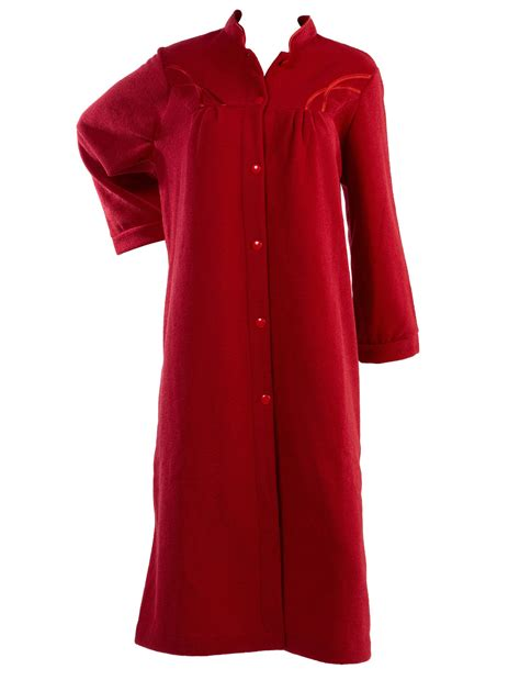 dressing gown womens soft polar fleece button up