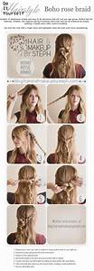 DIY easy hairstyle - Boho rose braid