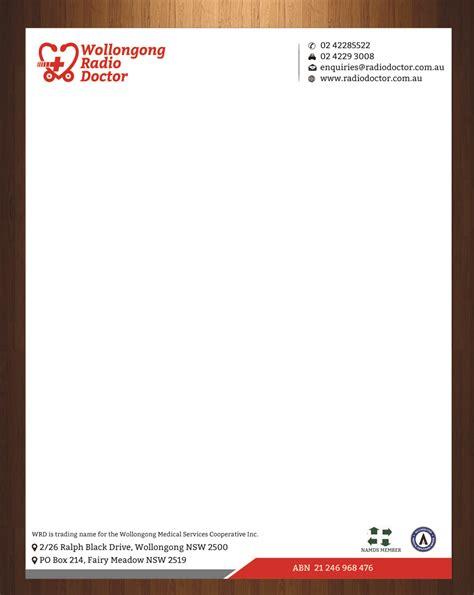 radio letterhead design  wollongong radio doctor