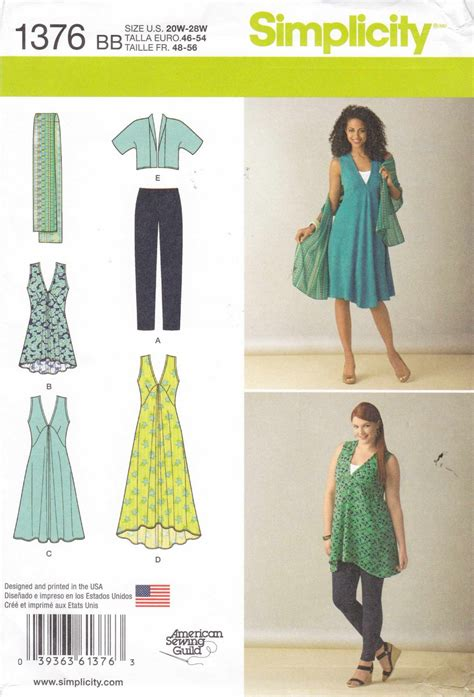 simplicity sewing pattern  womens  sizes