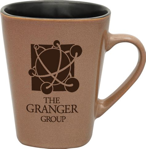 Our coffee mugs and tea cups are available in a wide range of sizes, styles, colors, and materials. Hickory, Bulk Custom Deep Etched 14oz Square Rustic Ceramic Mug, pottery, rustic, unique