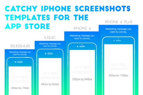 Iphone Appstore Screenshots Template  Illustrations On