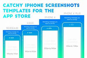 iphone appstore screenshots template illustrations on With app store screenshot template