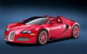 Red Bugatti Veyron Grand Sport