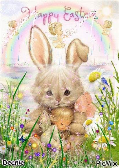 Easter Bunny Angel Holding Jolie Francisca Animations