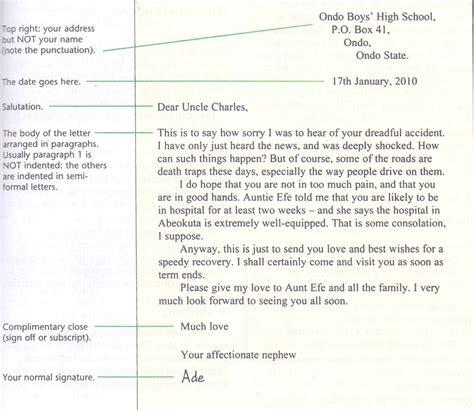 grammar clinic letter writing semi formal letter