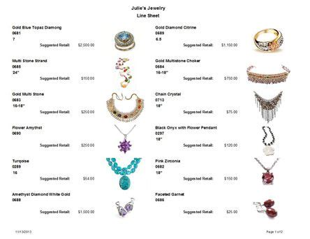jewelry making software with line sheet to help you sell
