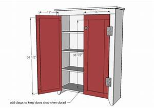 ana white patrick39s jelly cupbard diy projects With kitchen colors with white cabinets with how to remove sticker residue from fabric