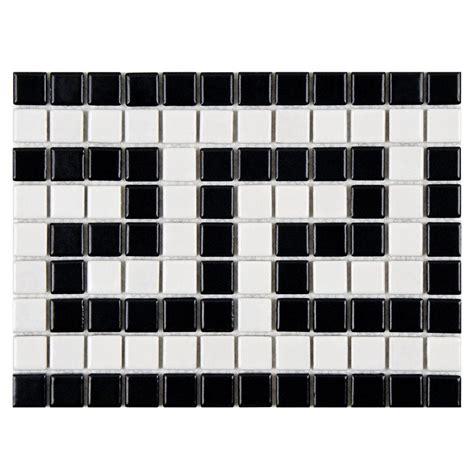 merola tile metro key matte white and black border 8 in x 10 1 2 in x 5 mm porcelain